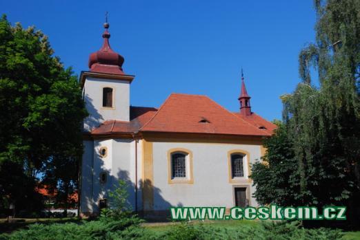 Pozdně barokní kostel sv. Barbory.