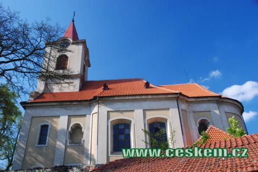 Kostel sv. Kateřiny ve Mšeci.