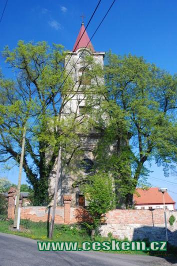 Věž kostela sv. Kateřiny.