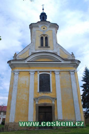Průčelí kostela sv. Kateřiny.