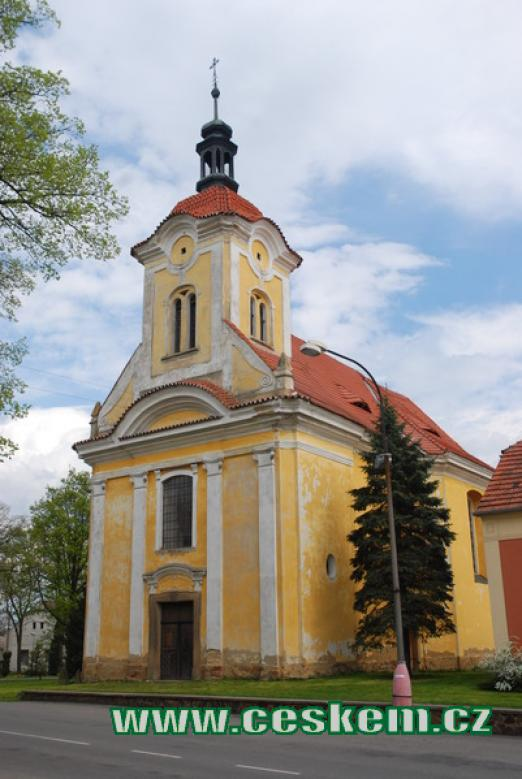 Kostel sv. Kateřiny z roku 1776.