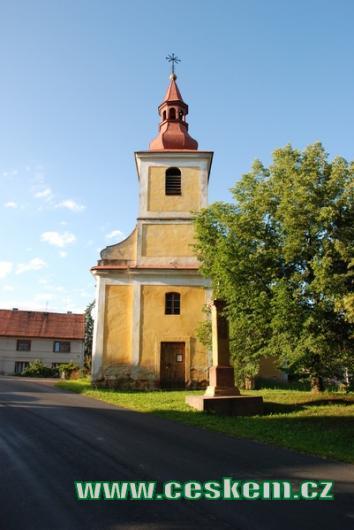 Kostel sv. Prokopa z 18. století.