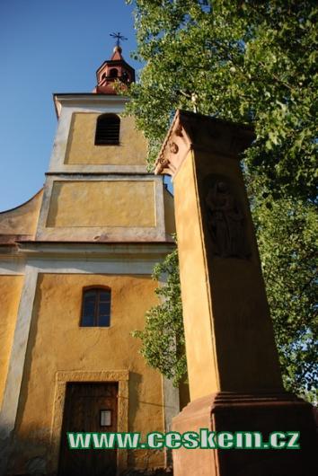 Kostel svatého Prokopa z 18. století.