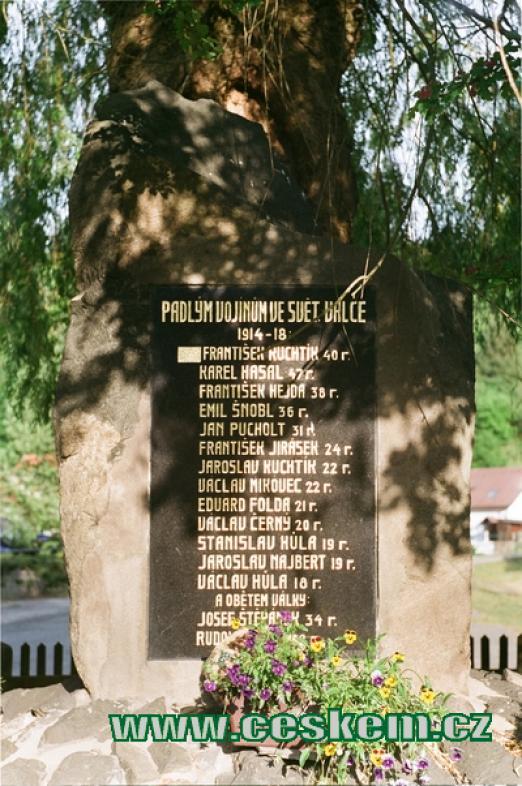 Památník padlým vojínům.