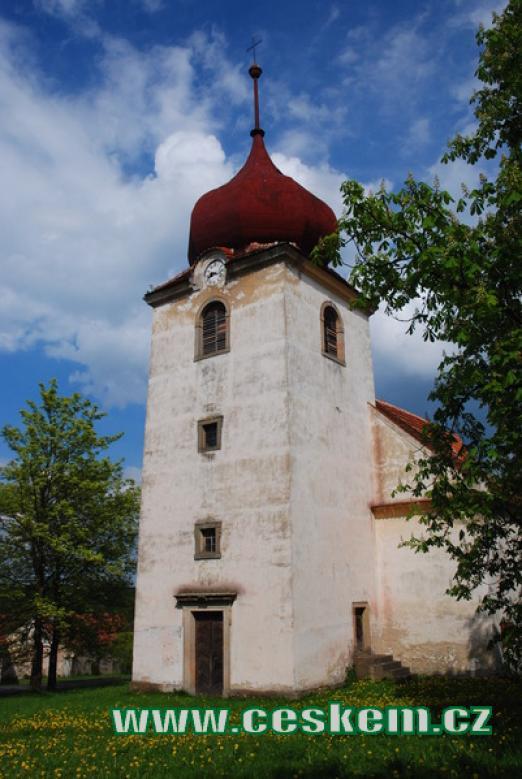 Věž kostela Narození Panny Marie...