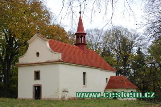 Poutní kostelík Nejsvětější Trojice.