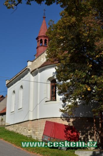 Pohled na kapli sv. Vojtěcha.