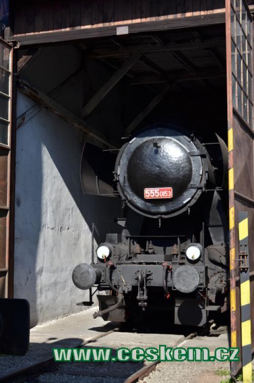 Lokomotiva řady 555 zvaná Němka.