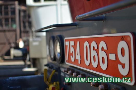 Označení jedné z lokomotiv.
