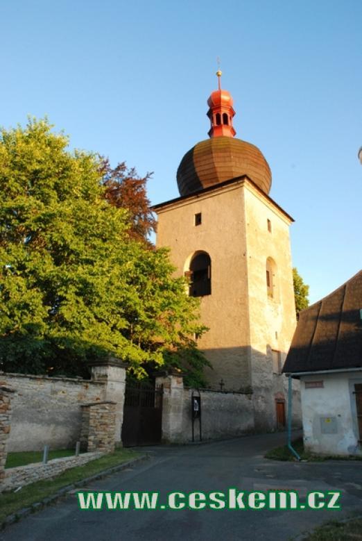 Renesanční zvonice u Mariánského kostelíku.