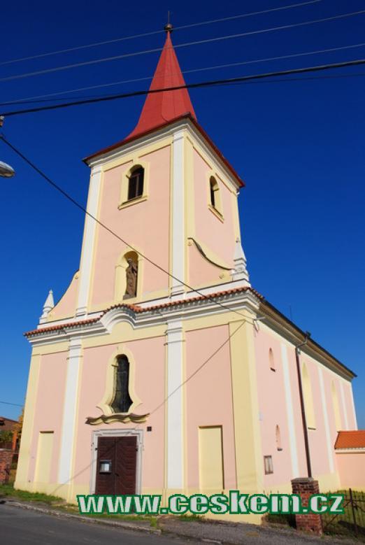 Kostel sv. Jakuba Většího.