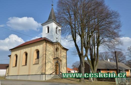 Kostel sv. Václava z roku 1869.