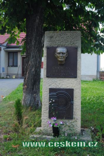 Památník Christiana Battaglii.