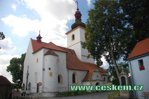 Pohled na kostel sv. Martina.