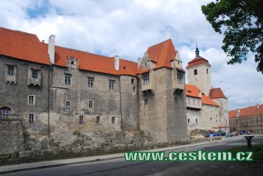 Strakonický hrad s kostelem sv. Prokopa.