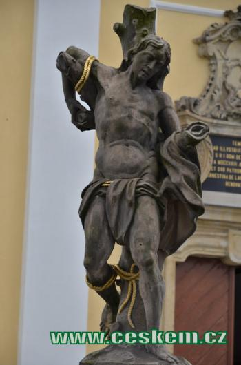 Socha sv. Šebestiána.