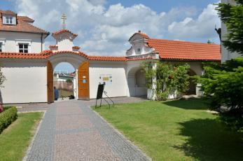 Klášter Klokoty - Vstupní brána.