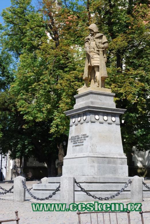 Socha Jana Žižky z roku 1884.