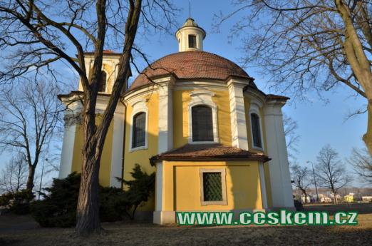 Kaple sv. Barbory z roku 1723.