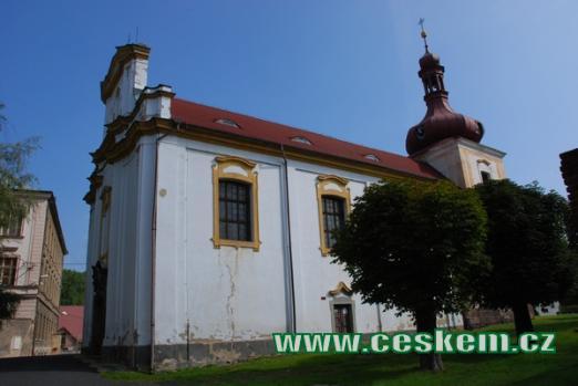 Původně románský kostel sv. Vavřince.